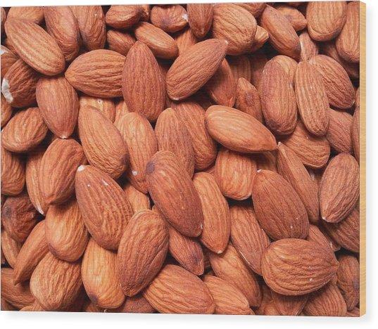 Full Frame Shot Of Almonds Wood Print by Frank Schiefelbein / Eyeem