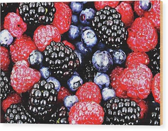Full Frame Shot Of Fresh Fruits Wood Print by Piergiuseppe Corvino / Eyeem