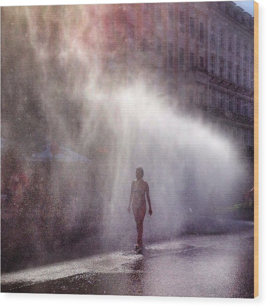 Full Length Of A Young Woman Walking In Wood Print by Daniel Kriebel / Eyeem