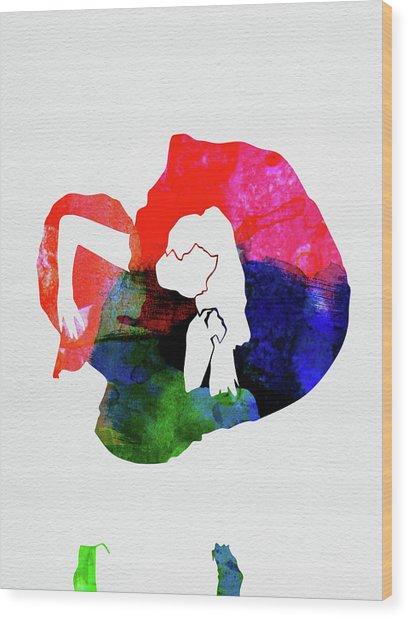 Gaga Watercolor Wood Print