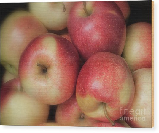 Wood Print featuring the photograph Gala Apples by Ann Jacobson