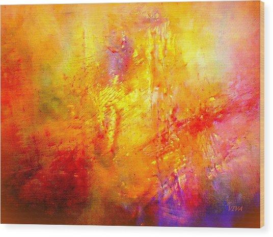 Galaxy Afire Wood Print