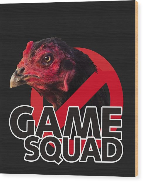 Game Squad Wood Print