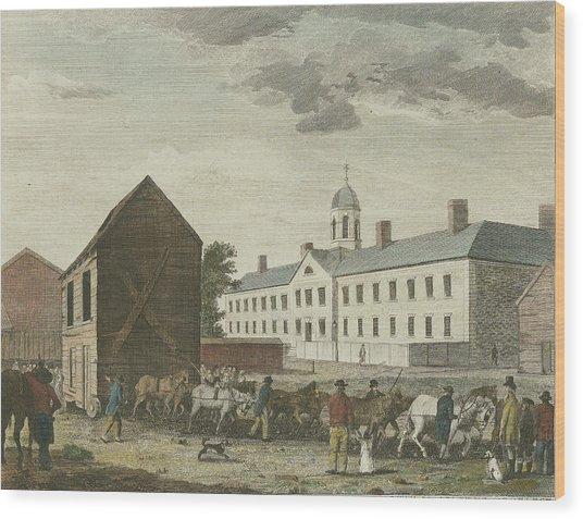 Gaol In Walnut Street Wood Print