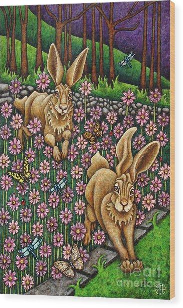 Garden Frolic  Wood Print