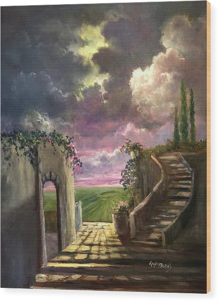 Garden Of The Ancients Wood Print