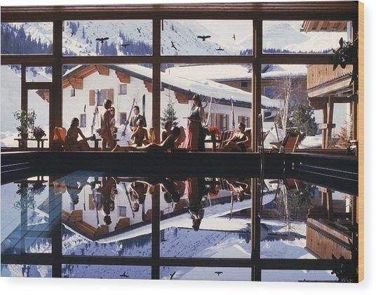 Gasthof Post Pool Wood Print