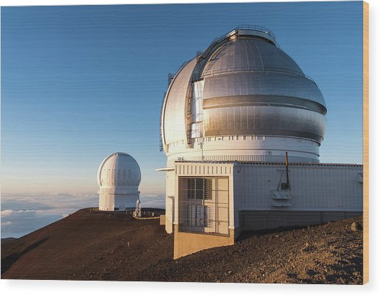 Wood Print featuring the photograph Gemini Observatory by William Dickman