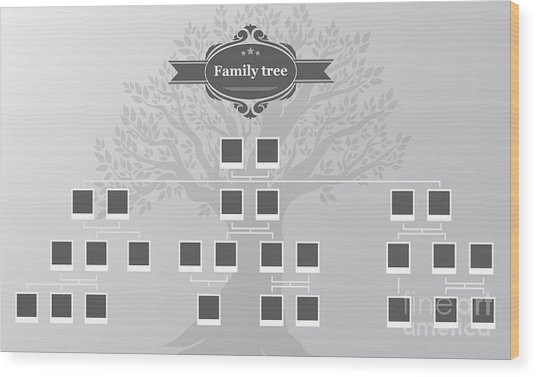 Genealogical Tree Of Your Family.hand Wood Print