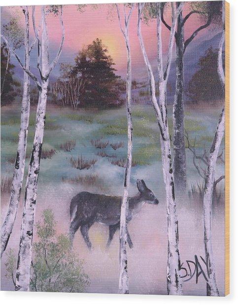 Gentle Mist Wood Print