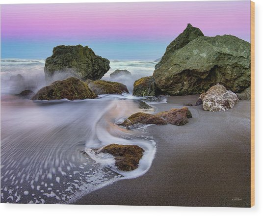 Wood Print featuring the photograph Gentle Waves by Leland D Howard