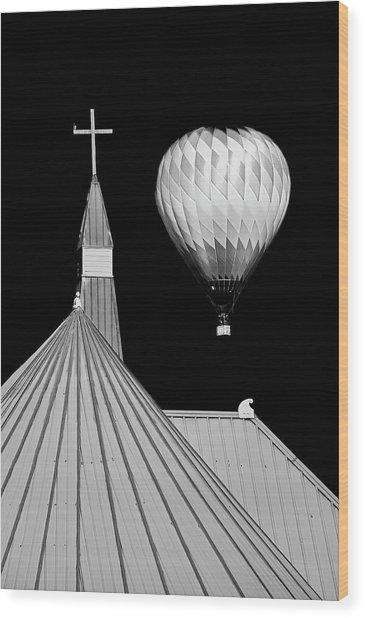 Geometric Patterns At Balloon Fest Wood Print