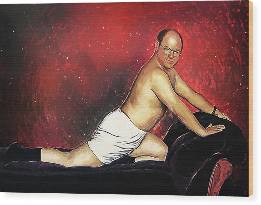 George Costanza Wood Print