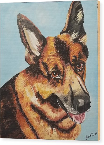 German Shepard  Wood Print