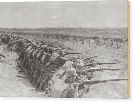 German Trench Wood Print by Fpg