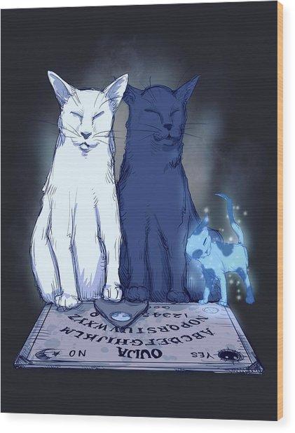 Ghost Kitten Wood Print
