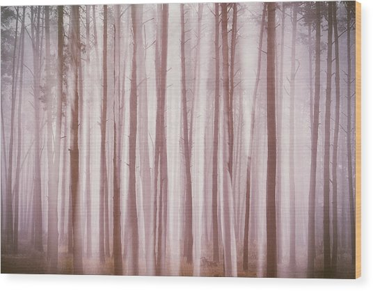 Wood Print featuring the photograph Ghosts In The Fog. Horytsya, 2018. by Andriy Maykovskyi