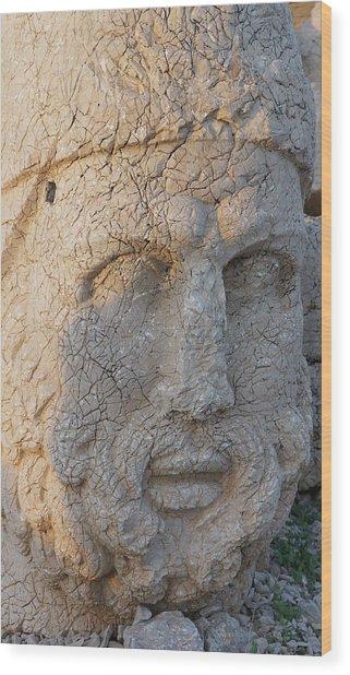 Giant Head Of Heracles,  Tumulus Wood Print