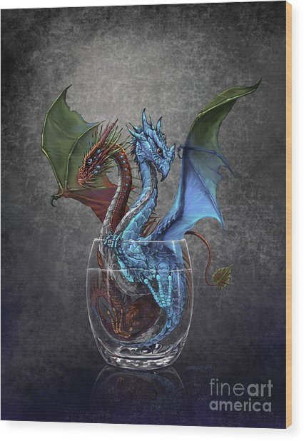 Gin And Tonic Dragon Wood Print