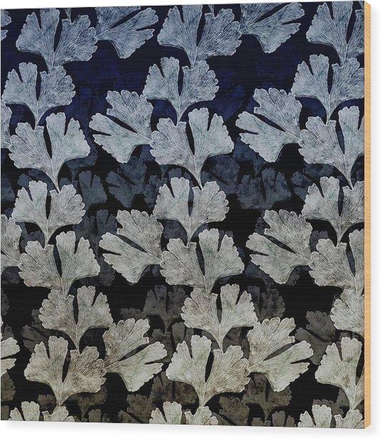 Ginko Leaf Pattern Wood Print
