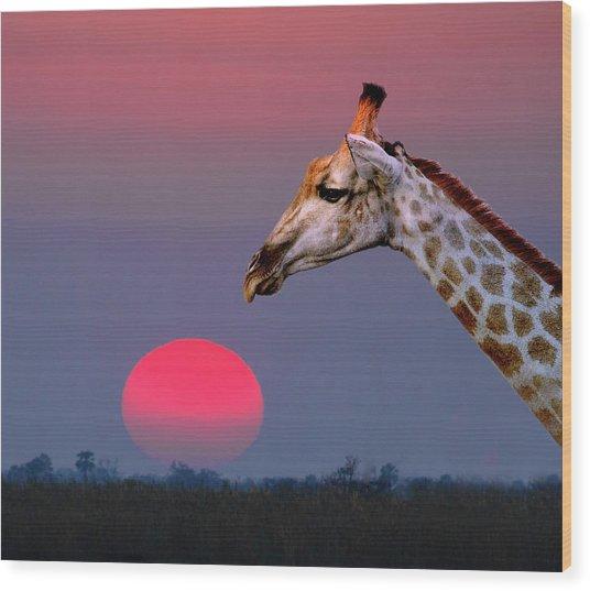 Giraffe Composite Wood Print