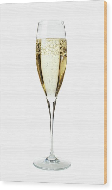 Glass Of Champagne Wood Print by Gianluca Fabrizio