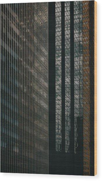 Glass Walls Wood Print
