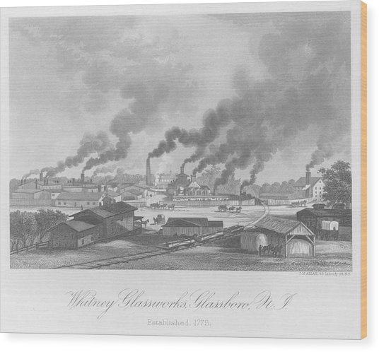Glassworks In New Jersey Wood Print by Kean Collection