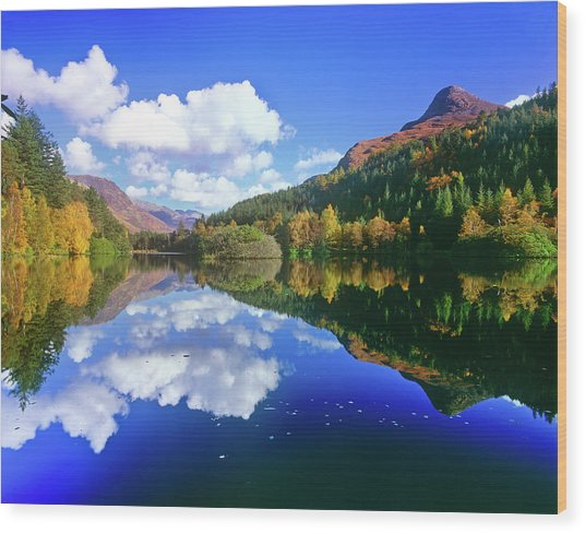Glencoe Lochan, Scotland Wood Print by Kathy Collins