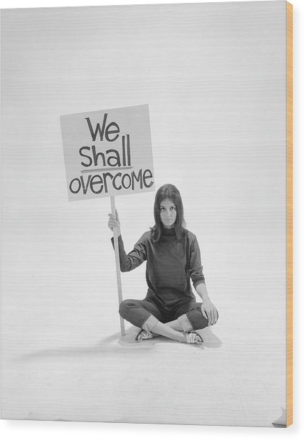 Gloria Steinem Wood Print