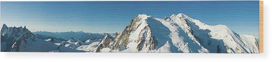 Glorious Mountain Vista Xxxl Wood Print