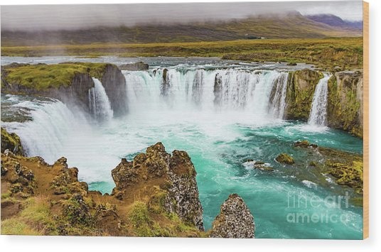 Godafoss Waterfall, Iceland Wood Print