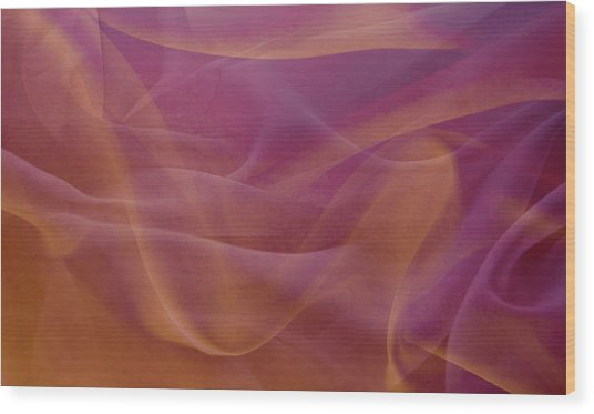 Gold And Lavendar Flowing Light Wood Print by Jcarroll-images