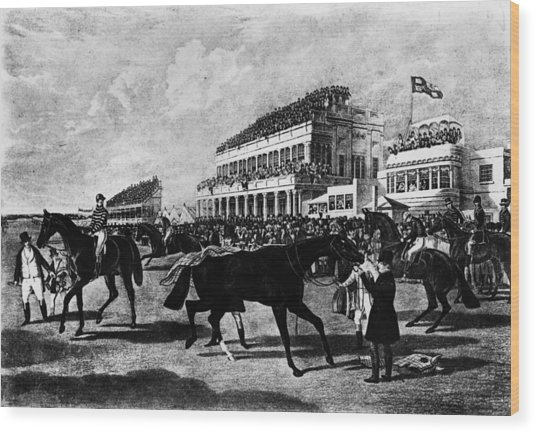 Gold Cup Day Wood Print by Rischgitz