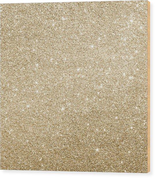 Gold Glitter Wood Print
