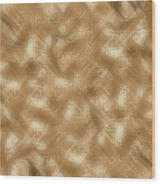 Gold Metal  Wood Print