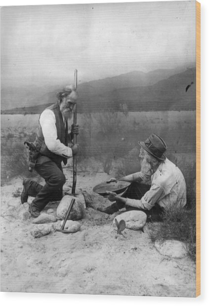 Gold Prospectors Wood Print by General Photographic Agency