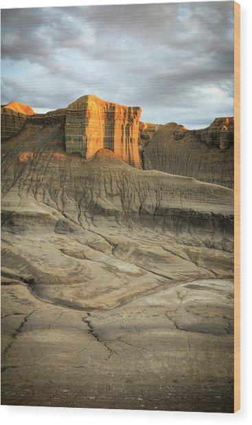 Golden Badlands Wood Print by Johnny Adolphson