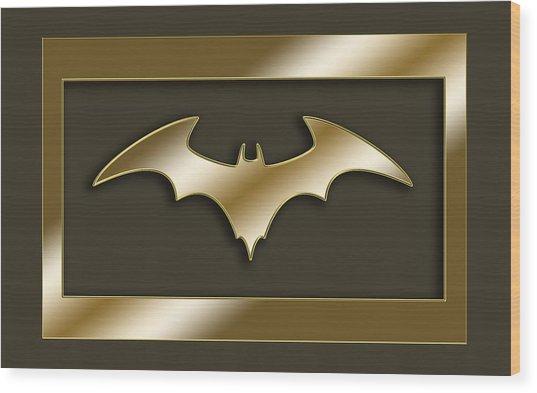 Golden Bat Wood Print
