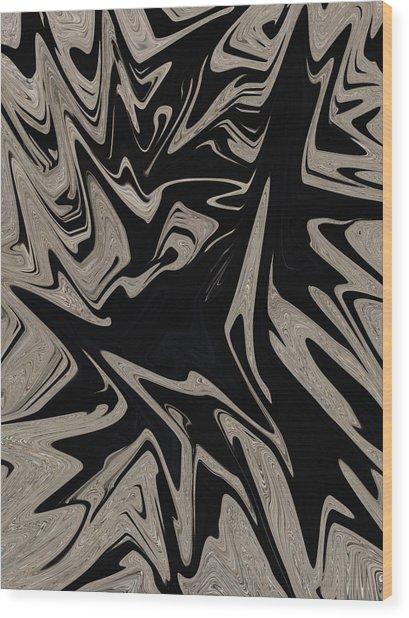 Golden Black Wood Print