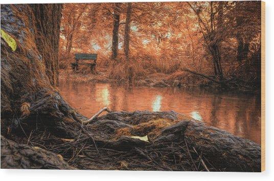 Golden Creek Vision Wood Print