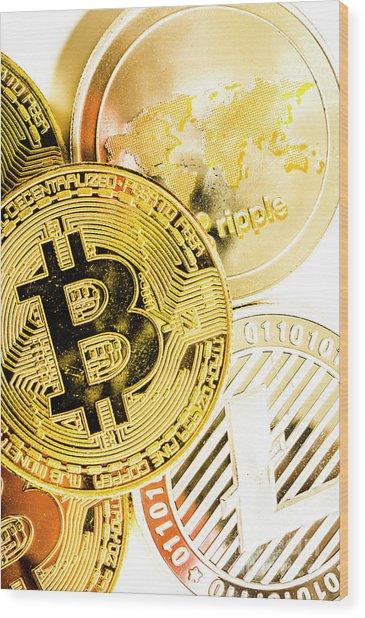 Golden Exchange Wood Print