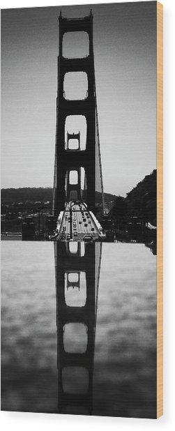 Golden Gate Reflection Wood Print