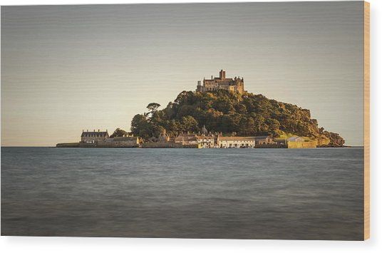 Golden Hour At St Michael's Mount Wood Print