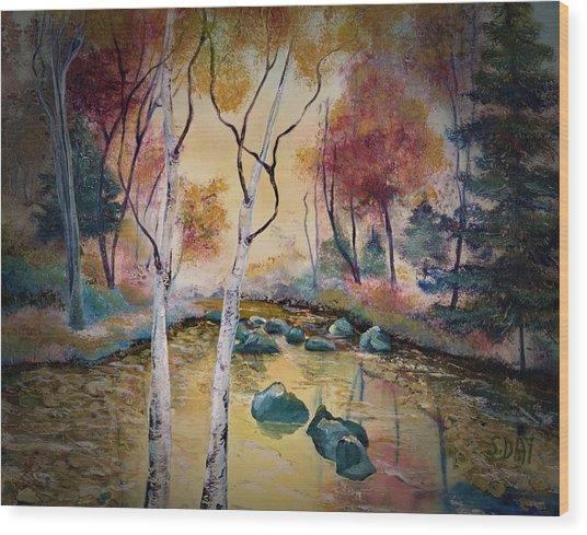 Golden Illumination Wood Print