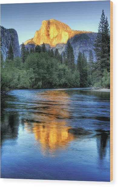 Golden Light On Half Dome Wood Print by Mimi Ditchie Photography