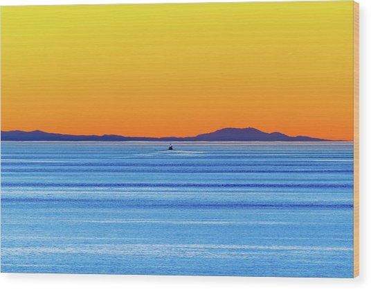 Golden Sunset Series I I Wood Print