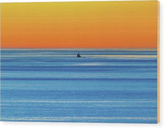 Golden Sunset Series I I I Wood Print