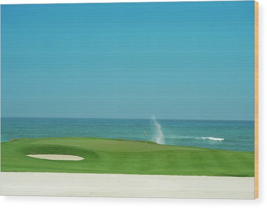 Golfers Paradise Wood Print by Caracterdesign