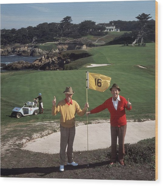Golfing Pals Wood Print by Slim Aarons